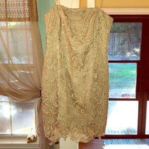 Adrianna Papell gold dress